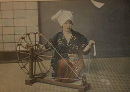 Japon. Fileuse De Coton. Photogravure Fin XIXe. - Prints & Engravings