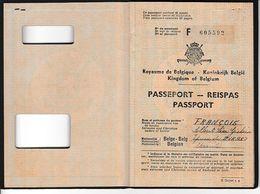 1955 (CONGO BELGE) LEOPOLVILLE - PASSEPORT BELGE - Albert FRANCOIS - Documents Historiques