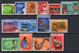 Zambia 1964 Definitives Set Of 14, Used, SG 94/107 (BA2) - Zambia (1965-...)
