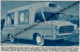 1953 : CYCLISME, TOUR DE FRANCE, CARAVANE PUBLICITAIRE, CAMIONNETTES 1200 KILOS CITROËN COCA-COLA - Sammlungen