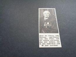 """Origineel Knipsel ( 5178 ) Uit Tijdschrift """" Zondagsvriend """"  1936 :   Beersse   Beerse - Vieux Papiers"""