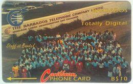 Barbados 6CBDA Staff At Bartel - Barbades