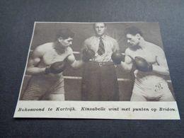 """Origineel Knipsel ( 5185 ) Uit Tijdschrift """" Zondagsvriend """"  1936 :   Boks  Boksen   Boxe  Kortrijk  Courtrai - Vieux Papiers"""