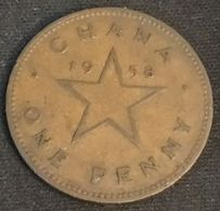GHANA - 1 PENNY 1958 - KM 2 - KWAME NKRUMAH - Ghana