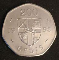 GHANA - 200 CEDIS 1998 - KM 35 - FREEDOM AND JUSTICE - Ghana
