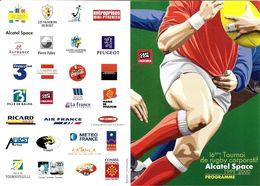 CART'COM  SPORT RUGBY 16 EME TOURNOI RUGBY CORPORATIF ALCATEL SPACE 1999 / 2000 INVITATION - Rugby