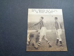 """Origineel Knipsel ( 5192 ) Uit Tijdschrift """" Zondagsvriend """"  1936 :  Voetbal   Tubantia ( Borgerhout ) - Vieux Papiers"""