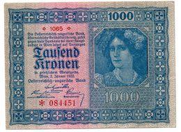 Autriche  -  1000 Kronen  2/1/1922  état  SPL - Austria