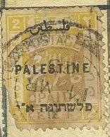 TWO MILIEMES,PALESTINE SUPRA-USED STAMP - Palestine
