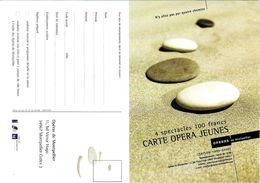 CART'COM  SPECTACLE MONTPELLIER 34 HÉRAULT  CARTE OPÉRA JEUNES SAISON 1999 / 2000 - Opéra