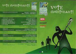 CART'COM VOTE MAINTENANT EUROPE MUSIC AWARDS 99 MUSIQUE - Musique Et Musiciens