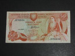50 Sent 1987 - CHYPRE - Cyprus - Kibris Merkez Bankasi  **** ACHAT IMMEDIAT **** - Cyprus