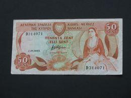 50 Sent 1983 - CHYPRE - Cyprus - Kibris Merkez Bankasi  **** ACHAT IMMEDIAT **** - Cyprus