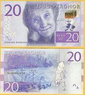 Sweden 20 Kronor P-69 2015 UNC Banknote - Suède