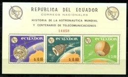 Ecuador, 1966, International Telecommunication Union, ITU, Space, United Nations, DISCOLORATION, MNH, Michel Block 16 - Ecuador