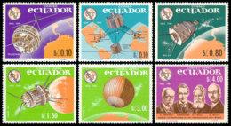 Ecuador, 1966, International Telecommunication Union, ITU, Space, United Nations, MNH, Michel 1190-1195 - Ecuador