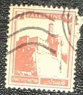 PALESTINE,CASTLE-USED STAMP - Palestina