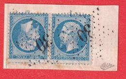 N°22b TETE BECHE Cote 1400€ SIGNE CALVES SUR FRAGMENT - 1862 Napoleon III
