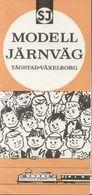 Catalogue FLEISCHMANN 1957 Informationsblatt 100° SJ MODELL JÄRNVÄG 1/87 - En Suédois - Libros Y Revistas