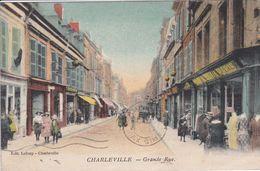 08 CHARLEVILLE Grande Rue , Façade Magasin ,circulée En 1932 - Charleville