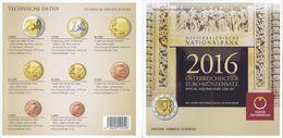 Austria Euro Coins Set 2016 BU - Autriche