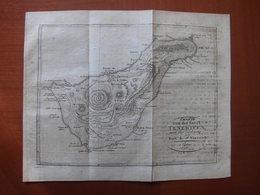 Iles Canaries (Espagne) : «Charte Von Von Der Insel Teneriffa» Par Ehrmann (1811) - Carte Geographique