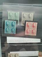 Postzegels België 13A/16A  * In Blok Van 4  Prachtig - Belgio