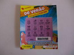 Loterie/ Lottery/ Loteria/ Lotaria Instant Instantânia Raspadinha Jogo Nº 423 De Verão Portugal - Billets De Loterie