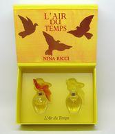"""Nina RICCI """"L'Air Du Temps"""" Coffret De 2 Miniatures De Parfum - Ambre & Jaune - Edt 2 X 2,5 Ml - Moderne Miniaturen (ab 1961)"""
