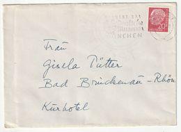 """Bund EF Michel Nr. 185 X, Bonn 21.5.57 Nach Bad Brückenau-Rhön, """"Deutsches Museum München"""", 3 Scans - [7] Federal Republic"""
