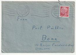 Bund EF Michel Nr. 185 X, Hannover BPA 16, 24.12.56 Nach Bonn, 3 Scans - [7] Federal Republic