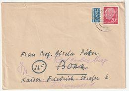 Bund EF Michel Nr. 185 X, Plus 2 Pf. Notopfer Berlin, Sonthofen Nach Bonn, 3 Scans - [7] Federal Republic