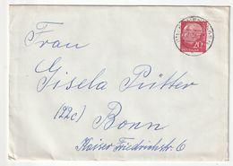 Bund EF Michel Nr. 185 X, Emmendingen 22.11.56 Nach Bonn, 3 Scans - [7] Federal Republic
