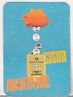 Romanian Small Calendar - 1982 - CEC - Calendrier , Roumanie - Petit Format : 1981-90