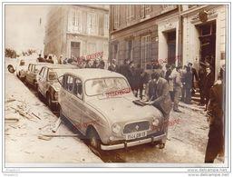 Au Plus Rapide Rare Photo Marseille 14 Décembre 1973 Bombe Au Consulat D'Algérie 4 Morts Renault 4 L - Orte