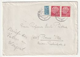 Bund MeF Michel Nr. 185 X, Plus 2 Pf. Notopfer Berlin, 31.1.55 Nach Bonn, 3 Scans - [7] Federal Republic