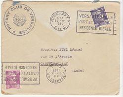 ESC Rotary De Versailles 15F Gandon OMEC Versailles 1952 - Storia Postale