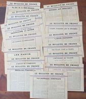 Le Bulletin De France LOT De 18 Numéros 1941/1942 - Maréchal Pétain - Hotel Astrid VICHY Propagande - Cf 2 Photos - WW2 - Documents Historiques