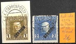 D - [832631]TB//O/Used-Autriche 1916 - N° 1/2, En Serbie - 1850-1918 Empire