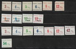 1945 SPREMBERG LOKALAUSGABE U. PRIVATERZEUGNISSE - POSTFRISCH** MNH Mi.Nr 19 - 24/ 7A - 12A - Occupation 1938-45
