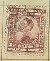 SERBIA,HRVATA I SLOVENACA,KING ALEXANDER,1D-USED STAMP - Serbien