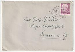Bund EF Michel Nr. 188 X, Weilheim 21.12.56 Nach Bonn, 3 Scans - [7] Federal Republic
