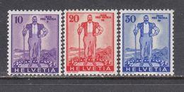 Switzerland 1936 - Pro Patria, Mi-Nr. 294/96, MNH** - Suisse