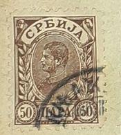 SERBIA,HRVATA I SLOVENACA,KING ALEXANDER,50-USED STAMP - Serbien