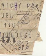 Télégramme Béziers -> Vichy Réexpédié à Toulouse, (1941) (3 Scans) - Guerra De 1939-45