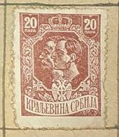 SERBIA,HRVATA I SLOVENACA,KING PETER & KING ALEXANDER,20D-USED STAMP - Serbien