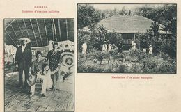 Raiatea Case Indigène Et Polynésiens . Habitation Colon Europeen . Undivided Back Before 1903 - Polynésie Française