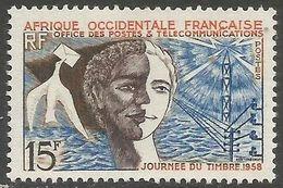 French West Africa - 1958 Stamp Day  MH *   Mi 87   Sc 76 - Ungebraucht