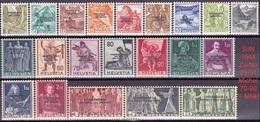 Schweiz Suisse 1944: Dienst Service III SOCIÉTÉ DES NATIONS (SdN) Zu 71-91 Mi 70-90 ** MNH (Zu CHF 95.00) - Service