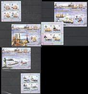 D206 2006 GUINE-BISSAU SHIPS & BOATS OS GRANDES NAVIOS VAPOR HYDROFOILS 3KB+3BL MNH - Barche